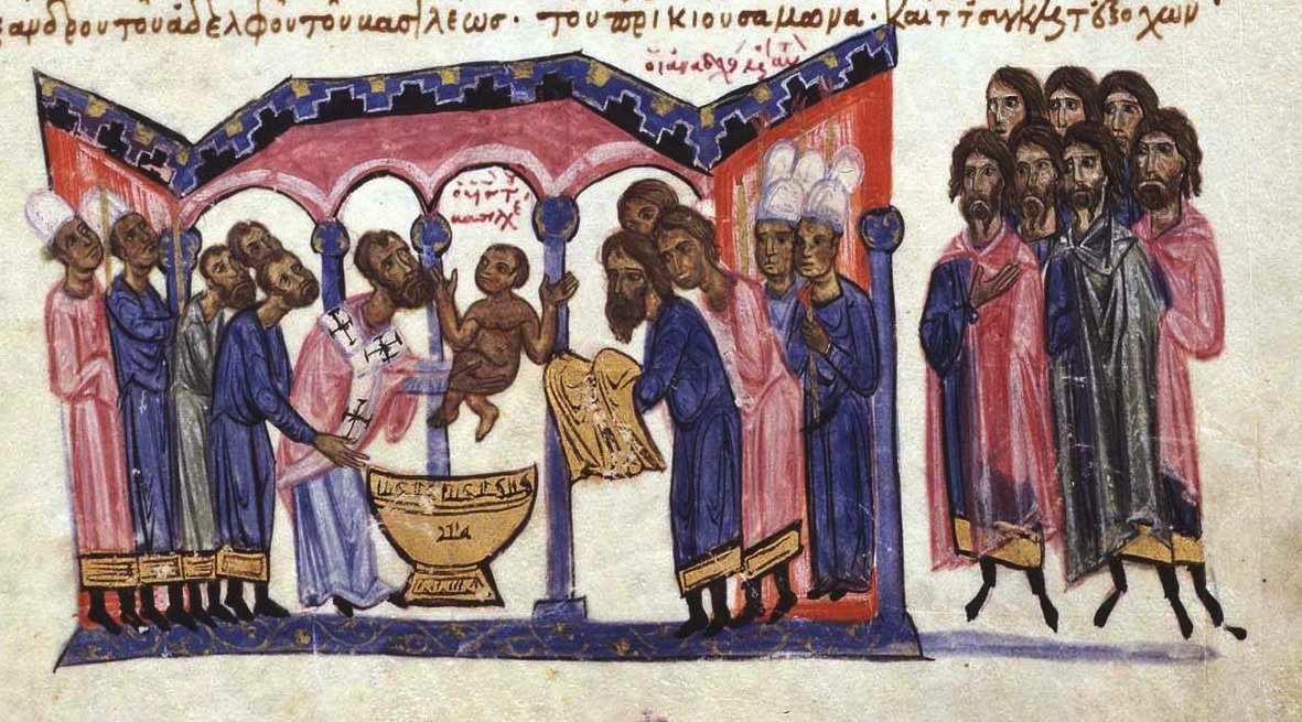 patriarch_nicholas_mystikos_baptizes_constantine_vii_porphyrogennetos